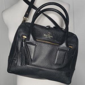 Kate Spade Black Pebbled Leather Satchel Crossbody